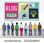 blog weblog media online... | Shutterstock . vector #253426894