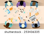 business people workplace top... | Shutterstock .eps vector #253436335