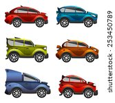 cartoon cars illustration | Shutterstock . vector #253450789