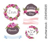 wedding collection with hand... | Shutterstock .eps vector #253454035