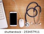 worktable healthcare  medicine | Shutterstock . vector #253457911