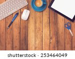 office desk mock up template... | Shutterstock . vector #253464049