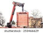 Crane Delivers A Brick Pallet...