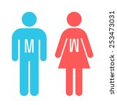 man and lady toilet sign | Shutterstock .eps vector #253473031