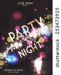 abstract party flyer template   ... | Shutterstock .eps vector #253473925