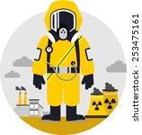 bio hazard protection concept....   Shutterstock .eps vector #253475161