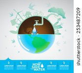 save the water vector concept | Shutterstock .eps vector #253487209