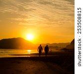 sunset on miramar beach ... | Shutterstock . vector #253508815