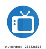 tv vector icon. retro tv icon. | Shutterstock .eps vector #253526815