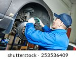 Car Mechanic Worker Repairing...