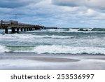 Jetty On The Baltic Sea Coast...