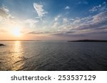 Stock photo sea sky sunset sun landscape 253537129