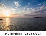 Stock photo sea sky sunset sun landscape 253537129