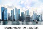 famous singapore downtown core  ... | Shutterstock . vector #253539331