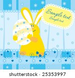 easter illustration with a ... | Shutterstock .eps vector #25353997