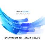 vector illustration abstract... | Shutterstock .eps vector #253545691