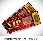 vip member design  vector... | Shutterstock .eps vector #253549441