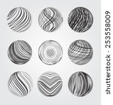 abstract striped spheres.vector ... | Shutterstock .eps vector #253558009