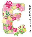 letter with flowers for design | Shutterstock .eps vector #25355815