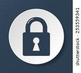 lock icon.  vector flat... | Shutterstock .eps vector #253559341