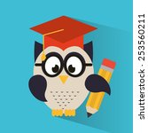 owl bird design  vector... | Shutterstock .eps vector #253560211