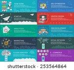 management digital marketing... | Shutterstock .eps vector #253564864