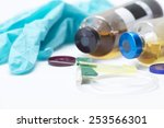 green safety catheter with... | Shutterstock . vector #253566301