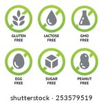 Set Of Food Dietary Labels For...