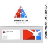 vector abstract triangle icon... | Shutterstock .eps vector #253585864