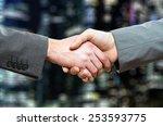 handshake between businessmen | Shutterstock . vector #253593775