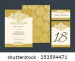 set backgrounds to wedding with ... | Shutterstock .eps vector #253594471