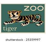 Vector Vintage Tiger Poster