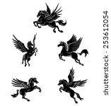 Tattoo Symbol Of Horse Wing...