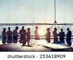 back lit business people... | Shutterstock . vector #253618909