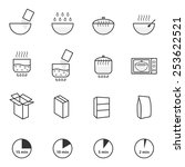 cooking instruction icons set   Shutterstock .eps vector #253622521