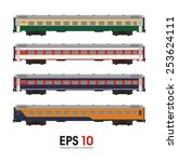 passenger coach illustration | Shutterstock .eps vector #253624111