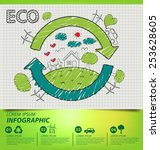 creative drawing ecology... | Shutterstock .eps vector #253628605