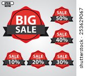big sale tags with sale up to...   Shutterstock .eps vector #253629067