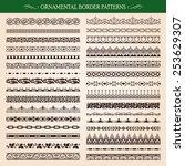 set of vintage style ornamental ... | Shutterstock .eps vector #253629307