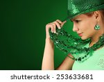 St patrick's day girl. young...