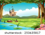 Illustration Of A Castle And A...