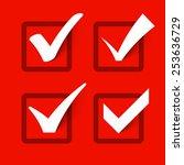 check marks. vector.   Shutterstock .eps vector #253636729