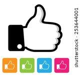 thumbs up symbol | Shutterstock . vector #253644001