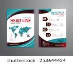 vector brochure  flyer ... | Shutterstock .eps vector #253644424