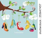 vector spring card.flowering... | Shutterstock .eps vector #253647457