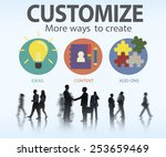 customize ideas identity... | Shutterstock . vector #253659469