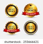 best choice label set vector...   Shutterstock .eps vector #253666621