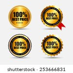 100   best price label set... | Shutterstock .eps vector #253666831