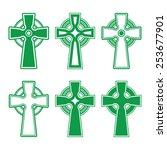irish  scottish celtic green...   Shutterstock .eps vector #253677901