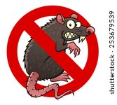 anti pest sign with a funny... | Shutterstock .eps vector #253679539